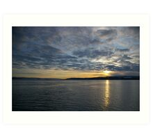 The Clyde and Gourock on a winters morning Art Print