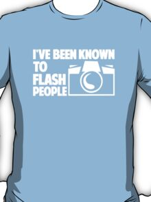 Photographer Camera Flash People T-Shirt