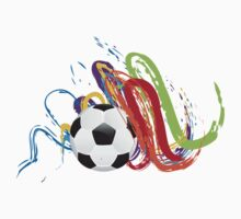 Soccer Ball with Brush Strokes Kids Tee