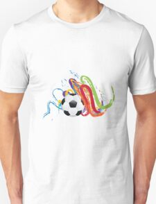 Soccer Ball with Brush Strokes T-Shirt