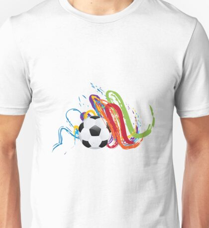 Soccer Ball with Brush Strokes Unisex T-Shirt