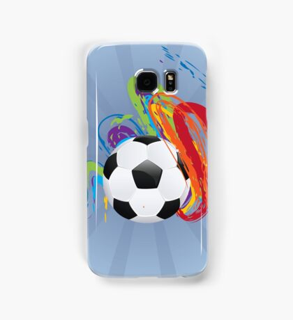 Soccer Ball with Brush Strokes Samsung Galaxy Case/Skin