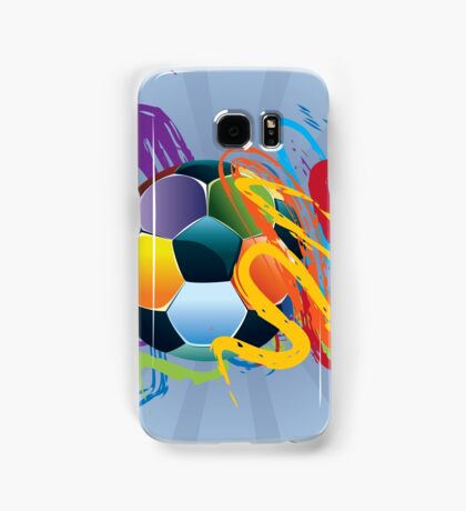 Soccer Ball with Brush Strokes 2 Samsung Galaxy Case/Skin