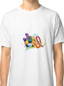 Soccer Ball with Brush Strokes 2 Classic T-Shirt