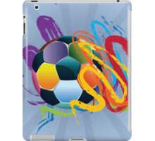 Soccer Ball with Brush Strokes 2 iPad Case/Skin