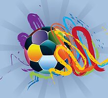 Soccer Ball with Brush Strokes 2 by AnnArtshock