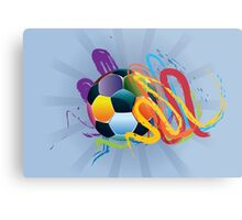 Soccer Ball with Brush Strokes 2 Metal Print