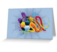Soccer Ball with Brush Strokes 2 Greeting Card