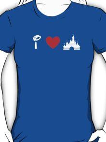I Heart Sleeping Beauty (Classic Logo) (Inverted) T-Shirt