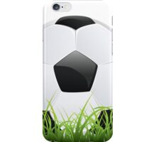 Soccer Ball with Grass iPhone Case/Skin