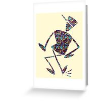 Dancing Skateboard Man Greeting Card