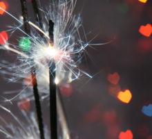 Heart Bokeh and Sparkler Sticker