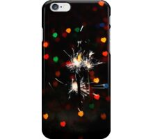Heart Bokeh and Sparkler 3 iPhone Case/Skin