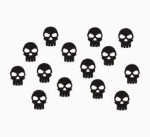 Black skulls Kids Clothes