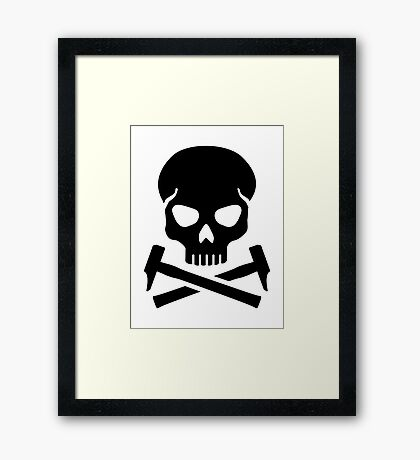 Skull crossed hammer Framed Print