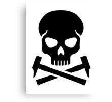 Skull crossed hammer Canvas Print