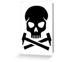 Skull crossed hammer Greeting Card