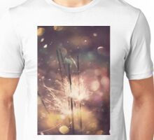 Sparkler and Colorful Bokeh Unisex T-Shirt