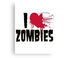I Love Zombies Canvas Print