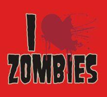 I Love Zombies One Piece - Long Sleeve