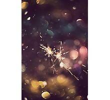 Sparkler and Colorful Bokeh 6 Photographic Print