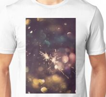 Sparkler and Colorful Bokeh 6 Unisex T-Shirt