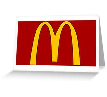 McDonalds Greeting Card