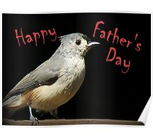 Happy Father's Day - Little Gray Bird Poster