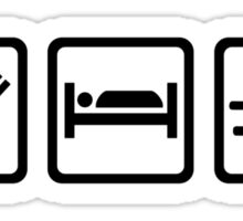 Eat sleep sled sleigh Sticker