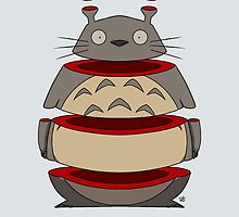 Sliced Totoro by crabro