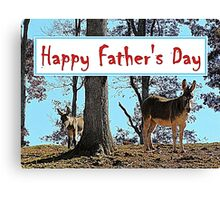Happy Father's Day Canvas Print