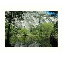Spring Reflections, Mirror Lake Art Print