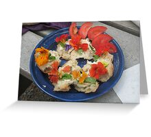 Hors d'oeuvres, al fresco Greeting Card