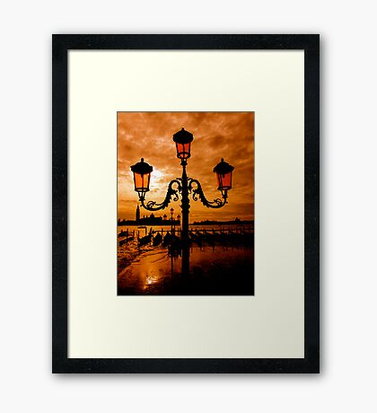 VENICE ON FIRE Framed Print