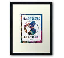 Style 2: World Oceans Day poster Framed Print