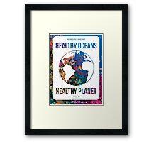 Style 2: World Oceans Day poster Framed Print
