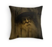 """What thoughts I have of you tonight, Walt Whitman..."" Throw Pillow"
