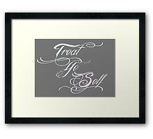 Treat Yo Self Pastels Framed Print