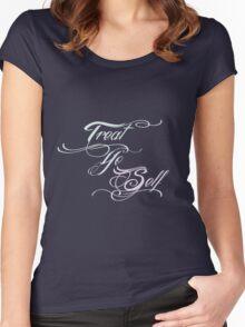 Treat Yo Self Pastels Women's Fitted Scoop T-Shirt