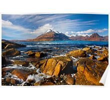 The Cuillins from Elgol, Isle of Skye, Scotland. Poster