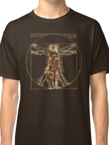 Da Vinci Meets the Doctor (Dark colors) Classic T-Shirt