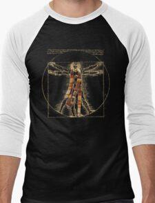 Da Vinci Meets the Doctor (Dark colors) Men's Baseball ¾ T-Shirt