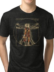 Da Vinci Meets the Doctor (Dark colors) Tri-blend T-Shirt