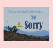 So Sorry Card With Daffodils One Piece - Long Sleeve