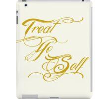 Treat Yo Self Gold iPad Case/Skin