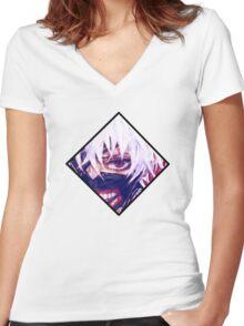 Tokyo Ghoul - Mask Ken Kaneki Women's Fitted V-Neck T-Shirt