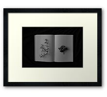 book of shadow Framed Print