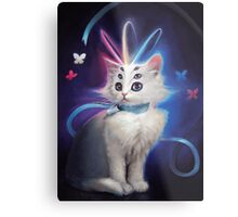 Buttons the Cat Metal Print