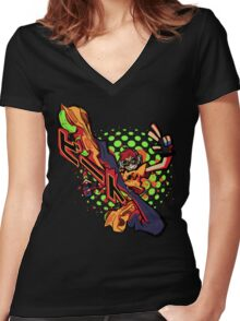 BEAT THIS!! JET SET RADIO Women's Fitted V-Neck T-Shirt