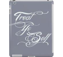 Treat Yo Self Pale iPad Case/Skin